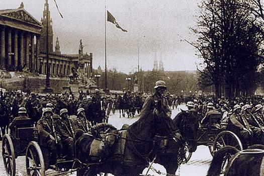 Немецкие войска на Рингштрассе, 1938 г.
