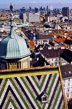 Вид на город с башни собора Святого Стефана